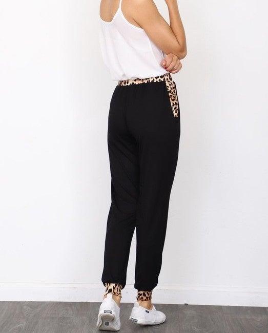 Leopard print drawstring jogger - Super soft!