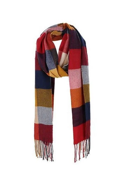 Cozy multi-plaid scarf