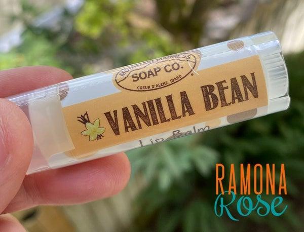 Vanilla Bean Lip Balm : Mountain Madness Soap Co