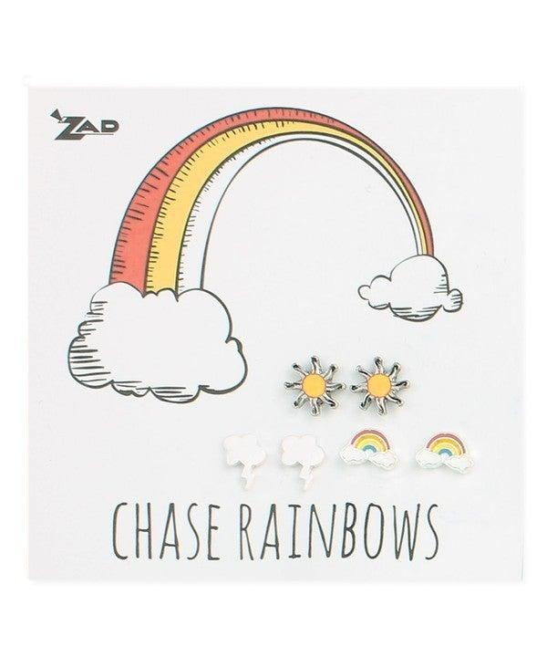 Rain, Shine or Rainbow Earring Trio