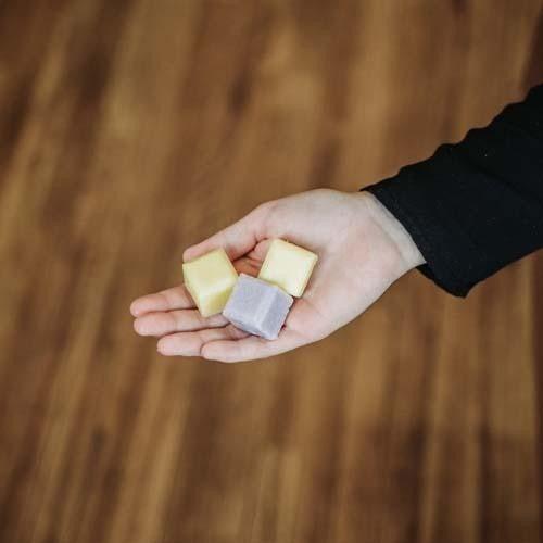 Huckleberry Lemon Sugar Scrub Cubes : Mountain Madness Soap Co