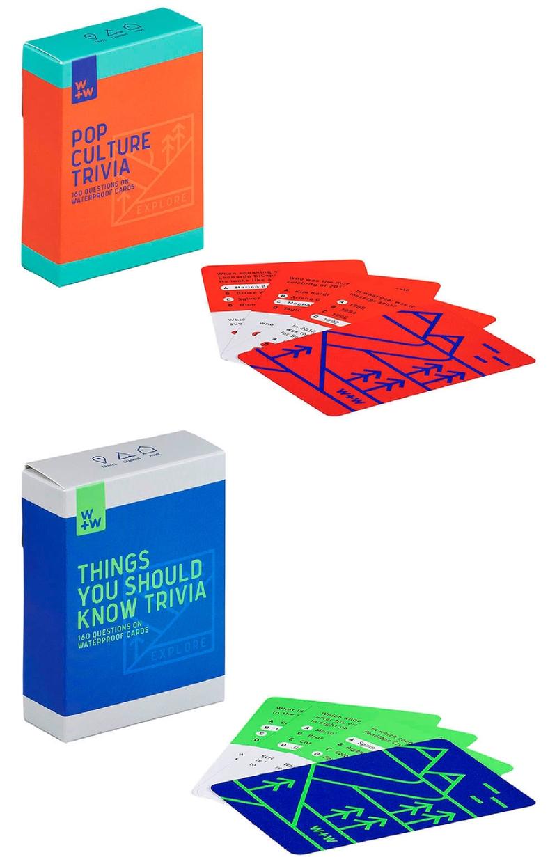 Waterproof Trivia Game Cards