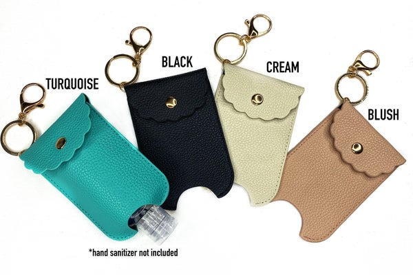 Hand Sani Holders with clip (perfect for purse)