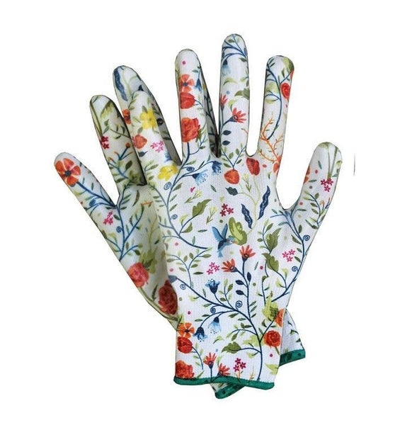 Womanswork Garden of Paradise Nitrile Weeder Gloves