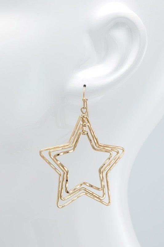Dangle star earrings