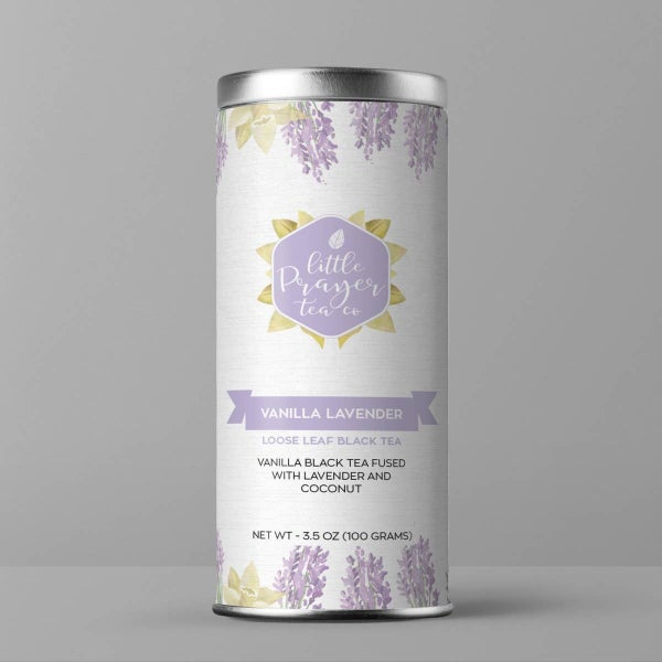 Vanilla Lavender Loose Leaf Black Tea - Dessert Tea : Little Prayer Tea Co.