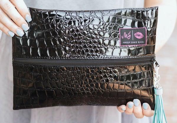 Makeup Junkie Bags : Midnight Gator Bag