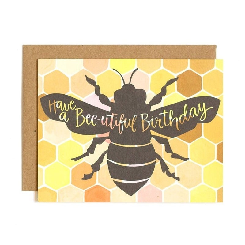 Bee-utiful Birthday Greeting Card