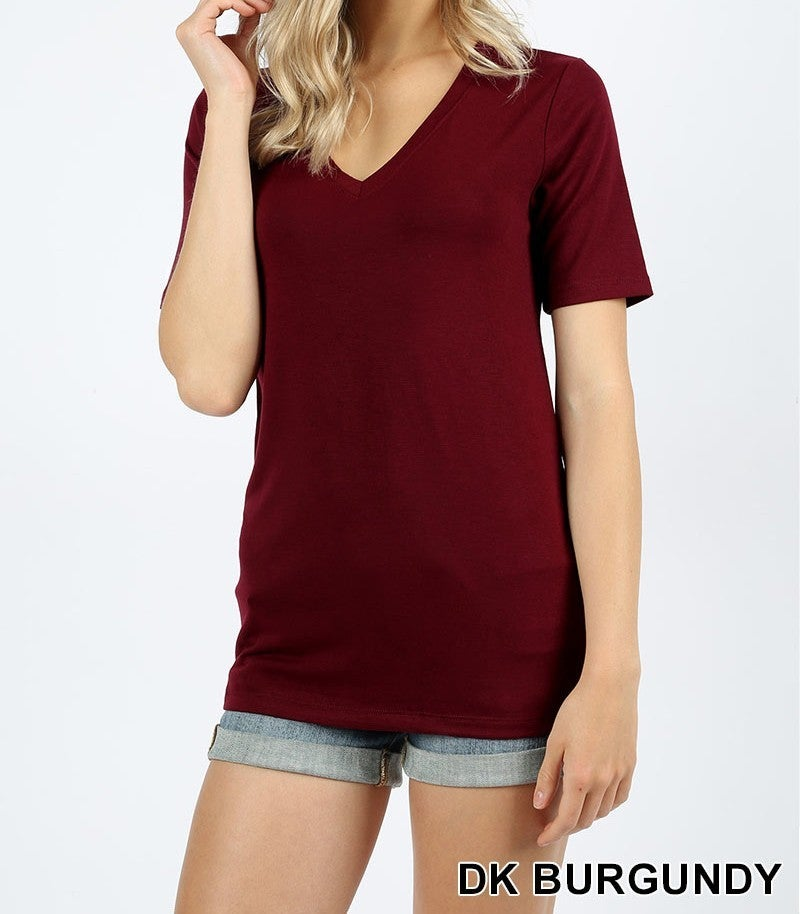 The ultimate solid v-neck t-shirt