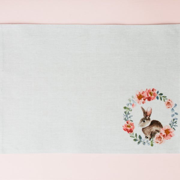 """Easter in the Garden"" bunny placemats, set of 4"