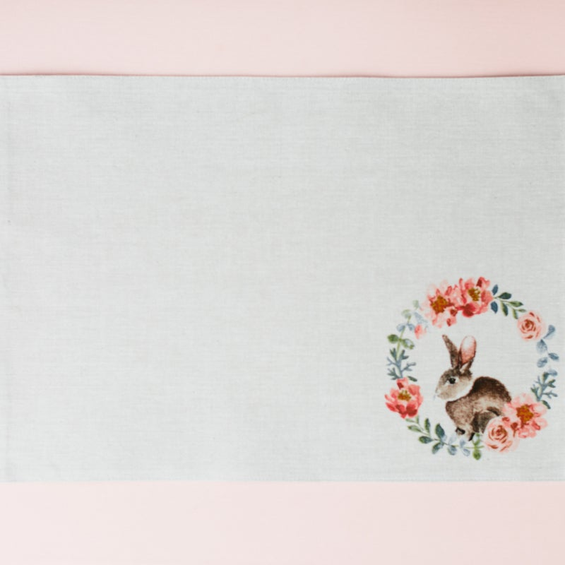 """""""Easter in the Garden"""" bunny placemats, set of 4"""