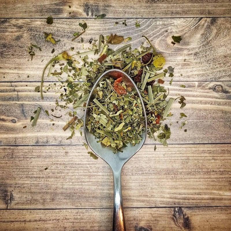 "Minty Herbal Tea Blend ""In The Garden"" Loose Herbal Tea : Little Prayer Tea Company"