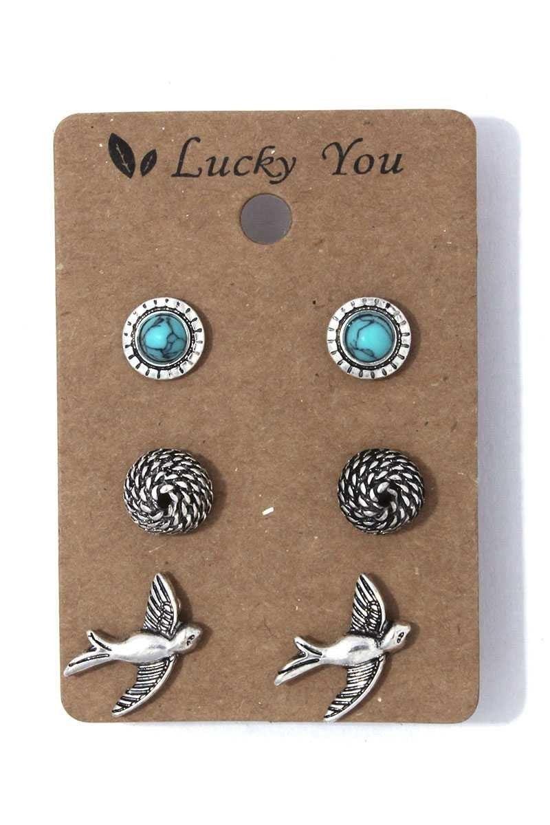 Bird Earring Set