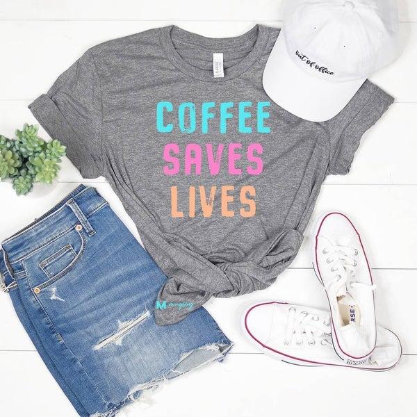 'Coffee Saves Lives' Graphic Tee