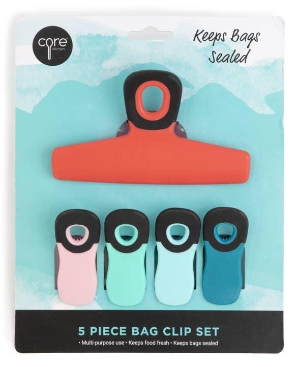 Core 5-piece bag clip set