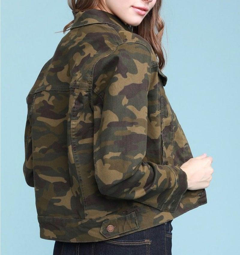 Judy Blue camo denim jacket