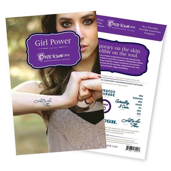 'Girl Power' Manifestation Tattoo - 8 Tattoos Per Pack