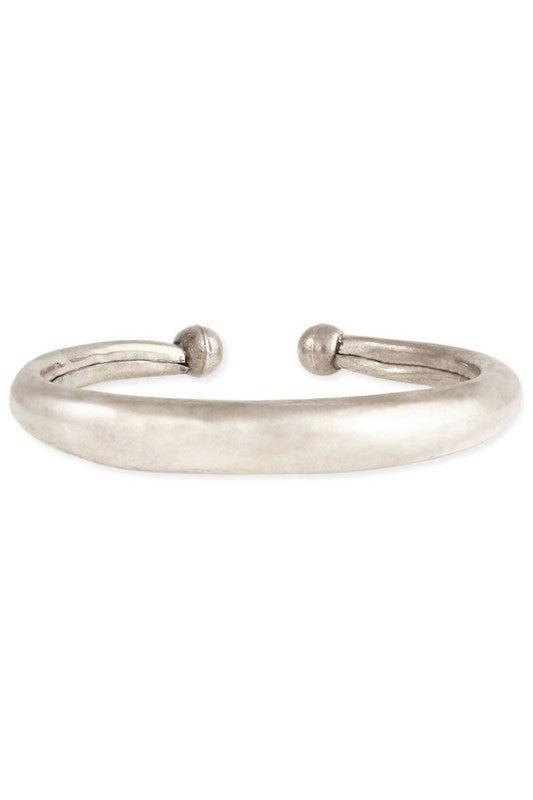 Classic hollow boho silver cuff bracelet