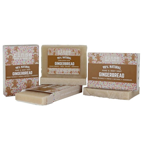 Holiday Mini Soap - Gingerbread: Rinse Bath & Body Co.