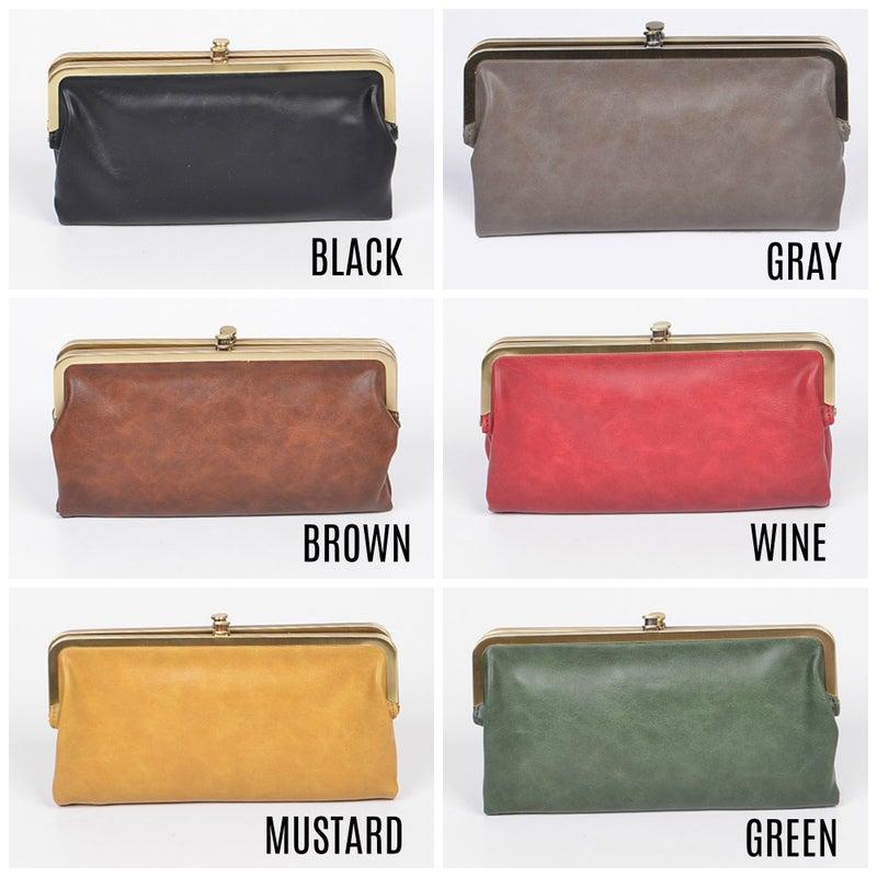 Vintage clasp wallet