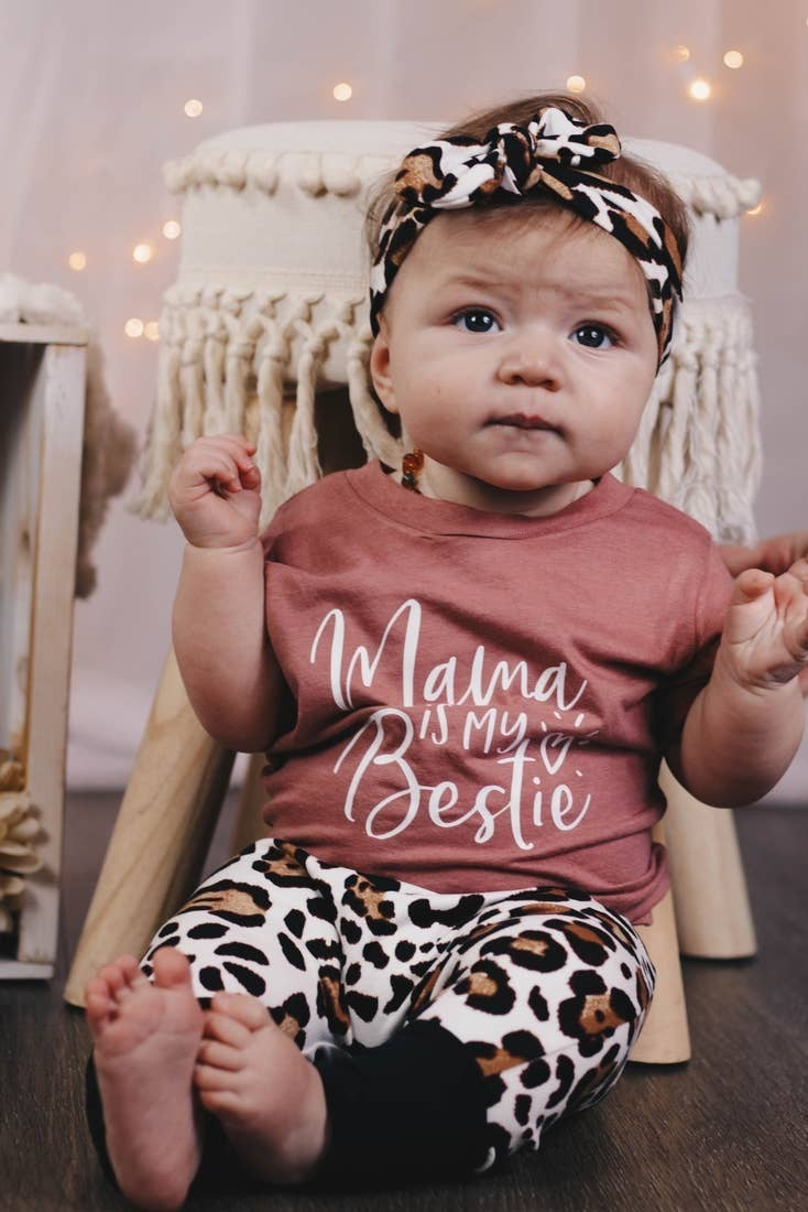 Mama is my Bestie Tee : Jena Bug Baby Boutique