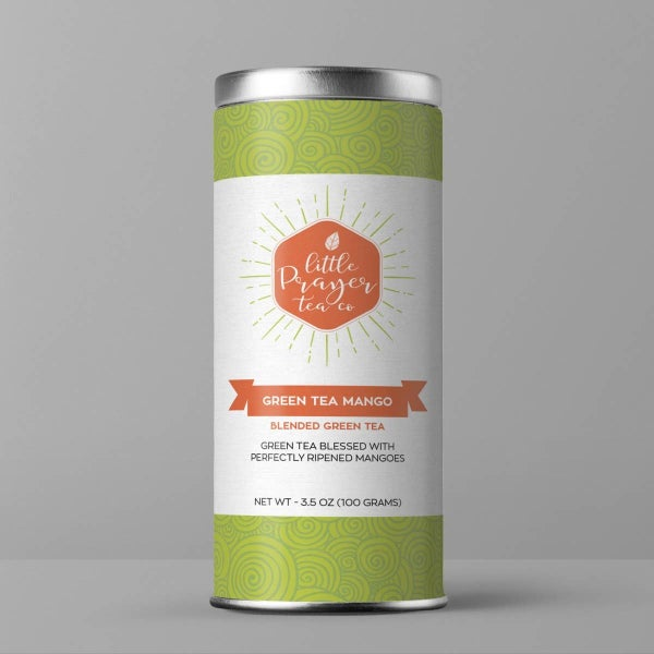 "Mango Green Loose Leaf Tea ""Green Tea Mango"" : Little Prayer Tea Co"