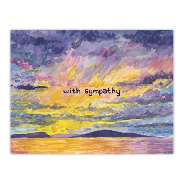 'With sympathy' greeting card