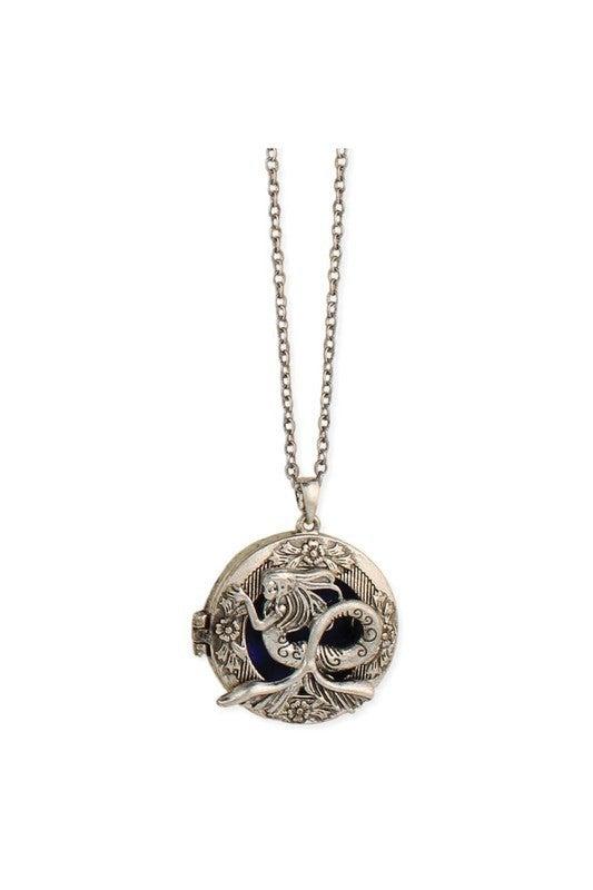 Magical mermaid locket necklace