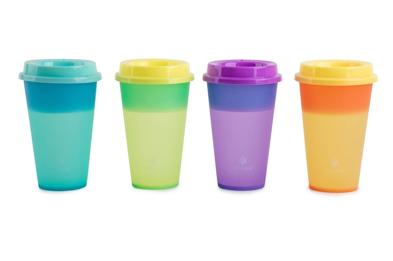 Hot Color Changing Cups - Set of 4