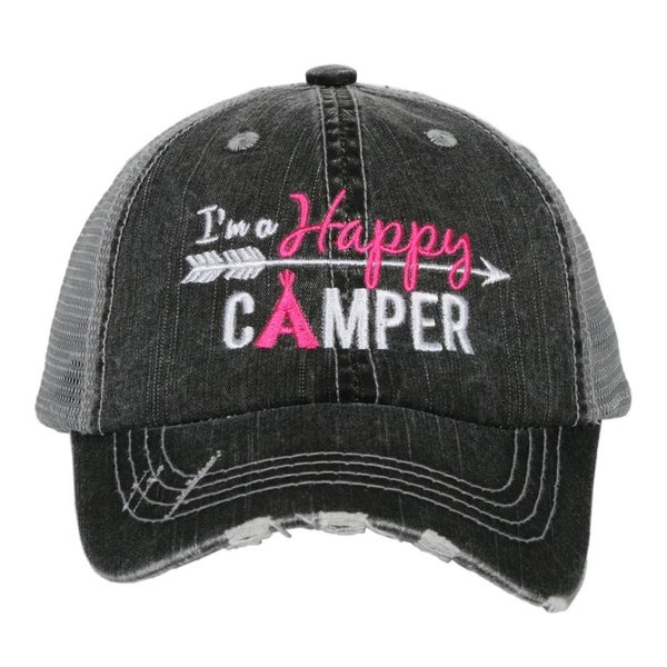 'I'm a Happy Camper' kids hat