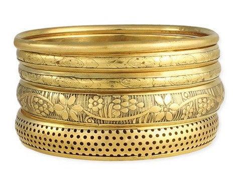Classic Victorian Vintage Bangle Bracelet set (5 bracelets)