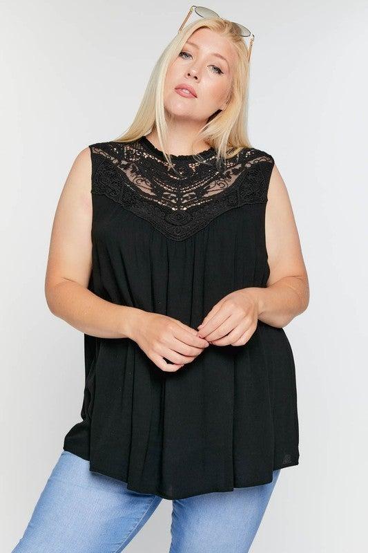Boho Crochet Laced Sleeveless Top