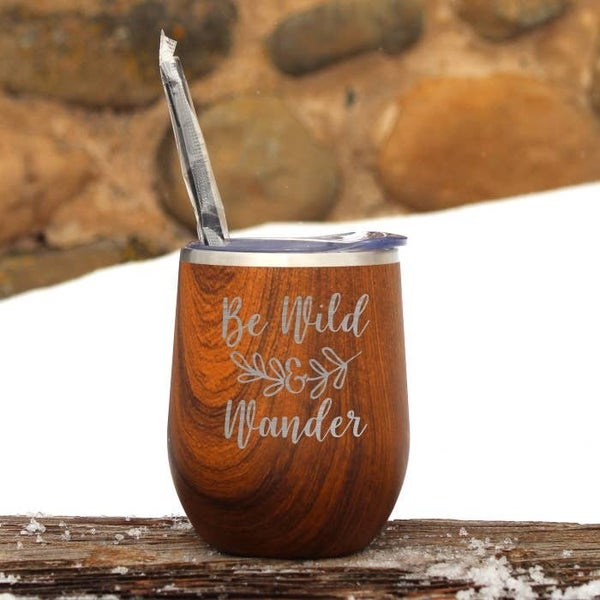 Be Wild & Wander Wine Tumbler