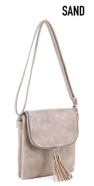 Classic tassel crossbody bag