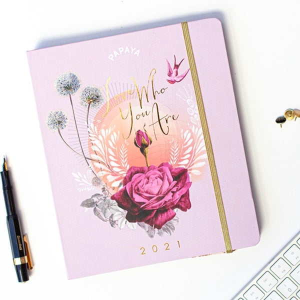 """""""Love Who You Are"""" Papaya 2021 Planner"""