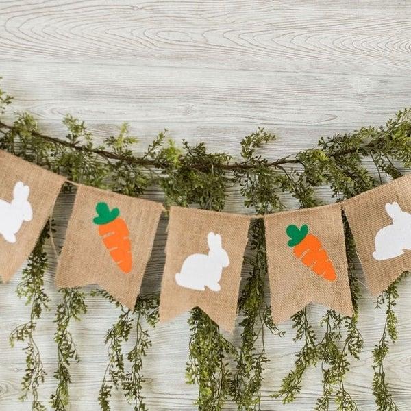 Easter Bunny & Carrot Banner