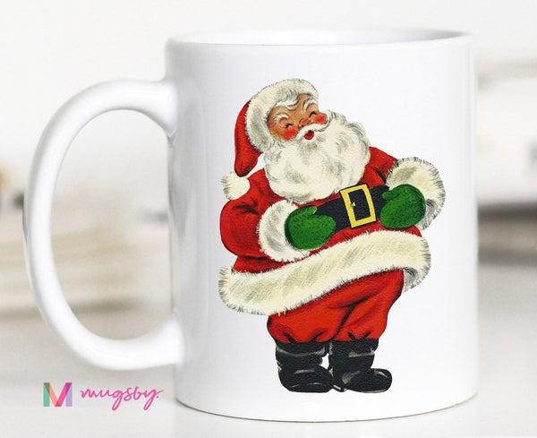Vintage Santa 11 oz coffee mug