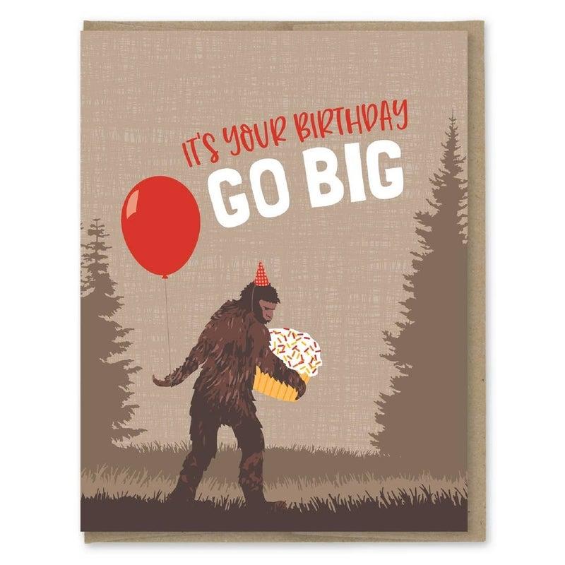 Go Big Birthday Card