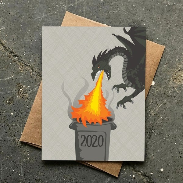 2020 Trash Fire New Year's Card Set - Box of 8