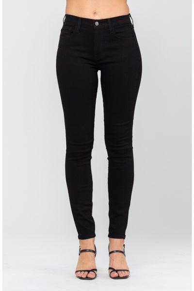 Judy Blue Black High-Waisted Skinny Jeans