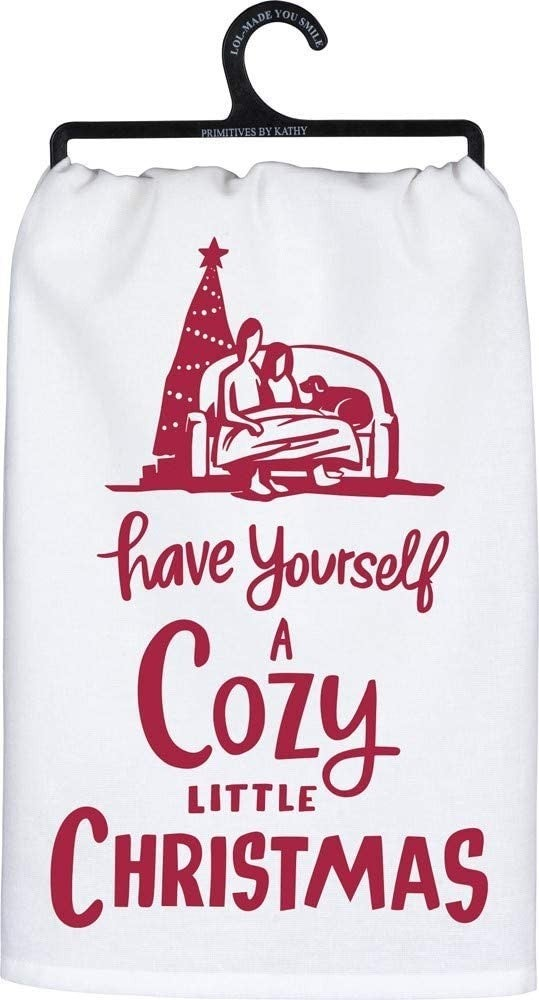 'Have Yourself a Cozy Little Christmas' tea towel : Primitives by Kathy