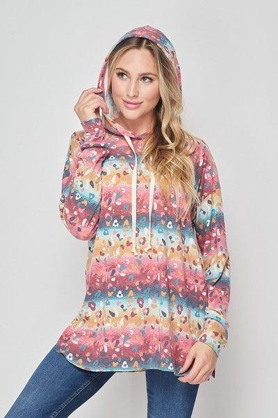 Leopard gradient hoodie