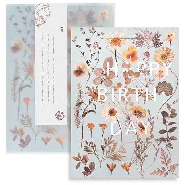 "Golden Garden ""Happy Birth Day"" card : Papaya"