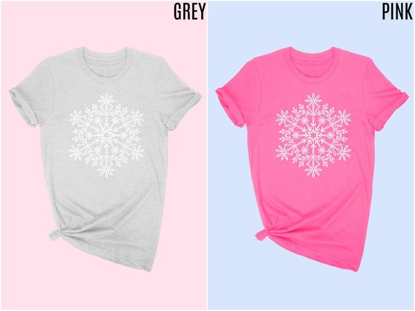 Snowflake graphic tee