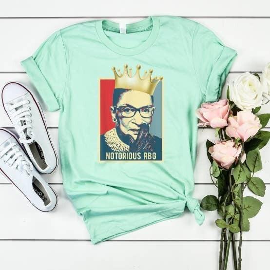 """Ruth Bader Ginsburg RBG Shirt """"Notorious RBG"""""""