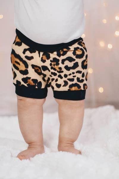 Latte Cheetah Infant/Toddler Shorties : Jena Bug Baby Boutique