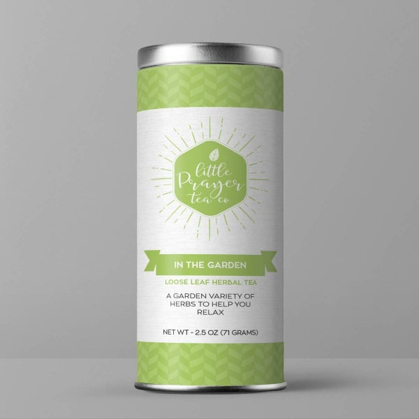 "Minty Herbal Tea Blend ""In The Garden"" Loose Herbal Tea : Little Prayer Tea Company"