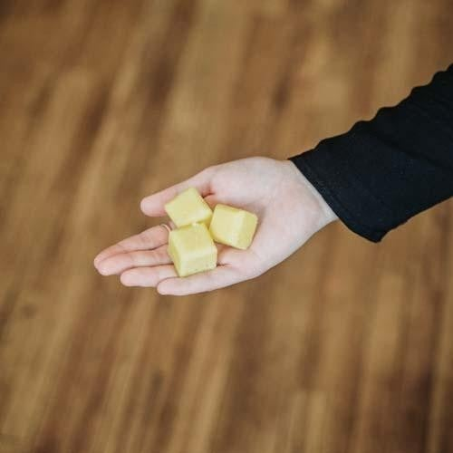 Sweet Meyer Lemon Sugar Scrub Cubes : Mountain Madness Soap Co
