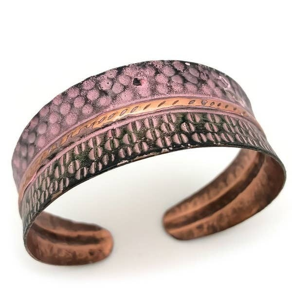 Half Circles Copper Patina Bracelet : Anju