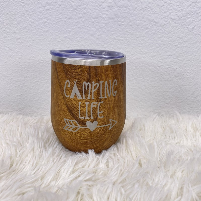 'Camping Life' Wine or Coffee Tumbler